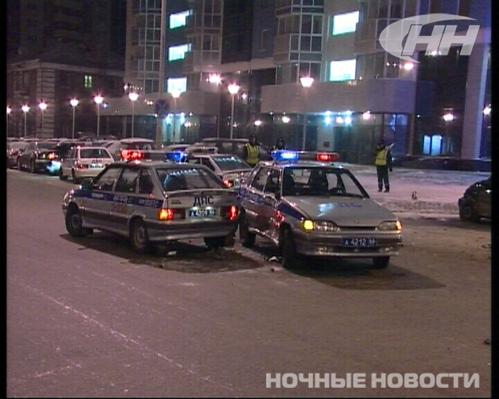 На Московской горке Lacetti врезался в два патрульных автомобиля ГИБДД