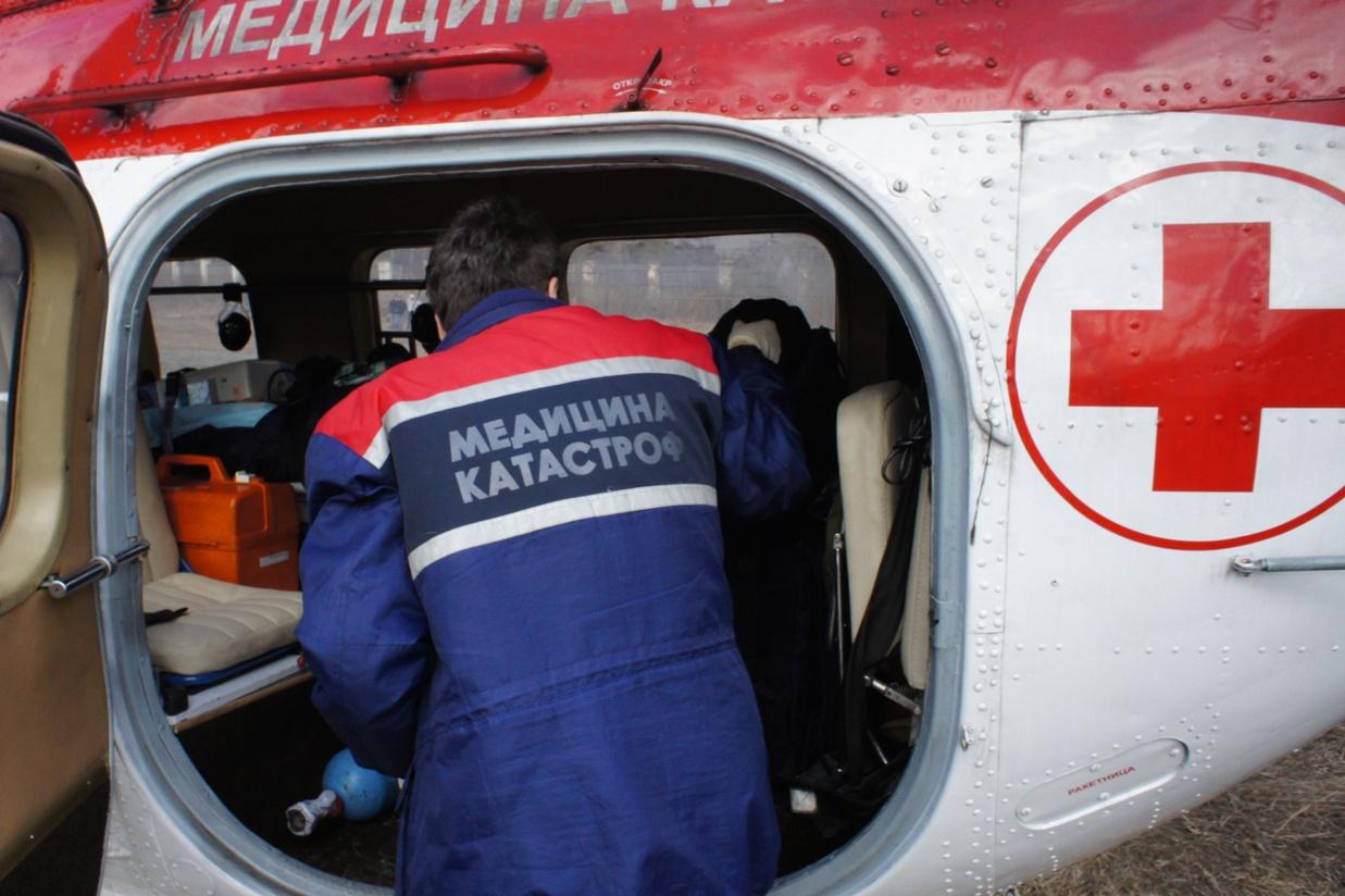 За лето вертолет медицины катастроф вылетел к пострадавшим в ДТП 26 раз