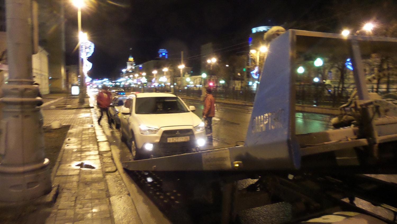 На Ленина ДПС задержала пьяного лихача на Mitsubishi после погони