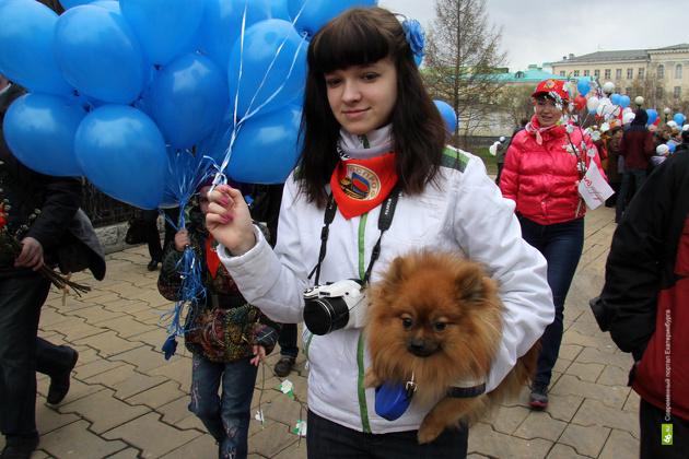 В демонстрациях на Урале приняли участие почти 100 тысяч человек