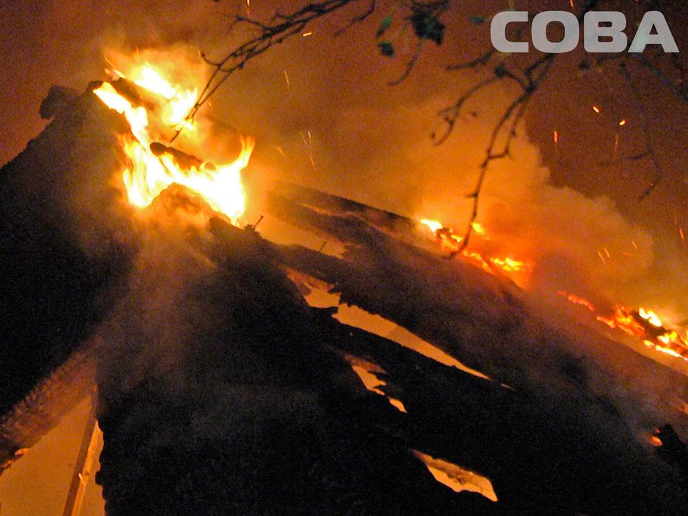 На Чусовском тракте выгорел дотла двухэтажный дом