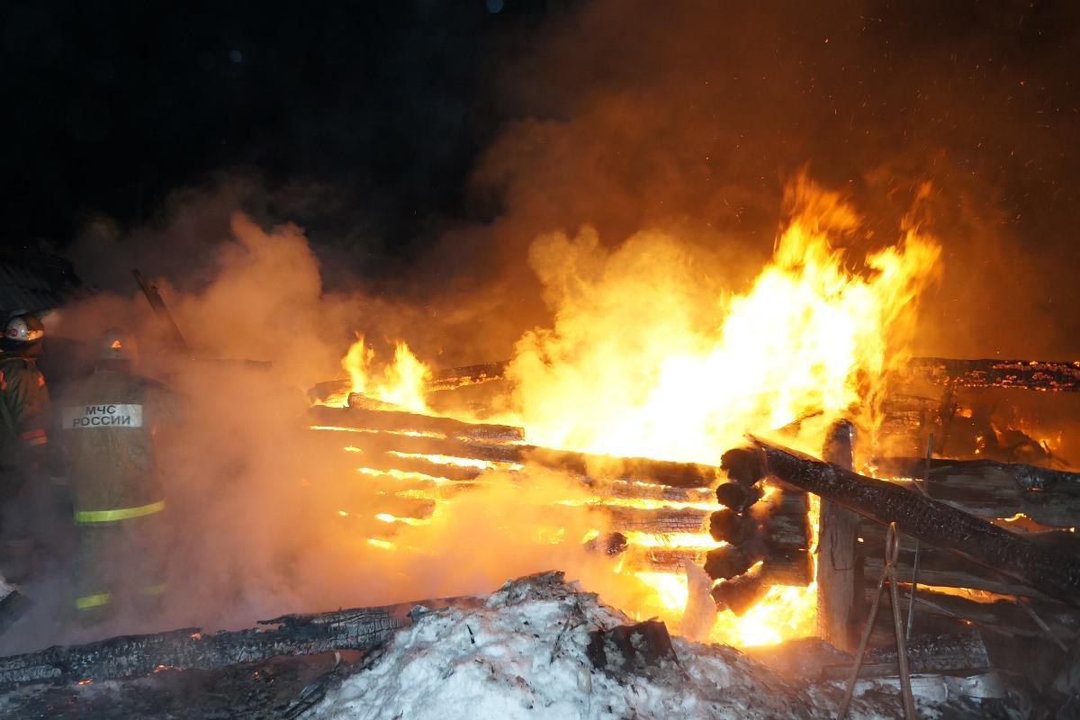 В Талицком районе при пожаре погиб мужчина