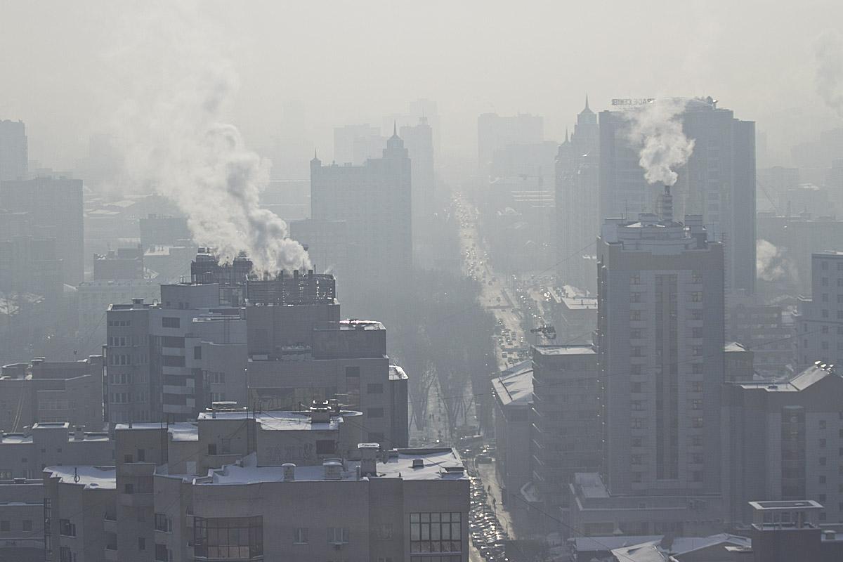 Из-за морозов над Екатеринбургом повис смог