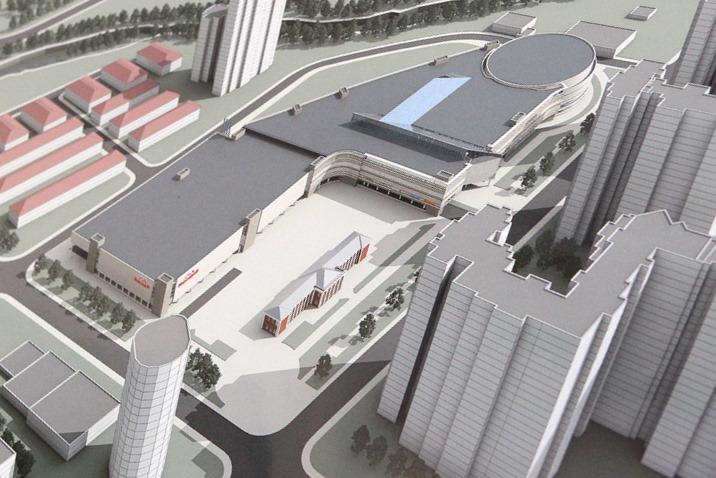 На месте Паркового рынка начали строить гипермаркет стройматериалов