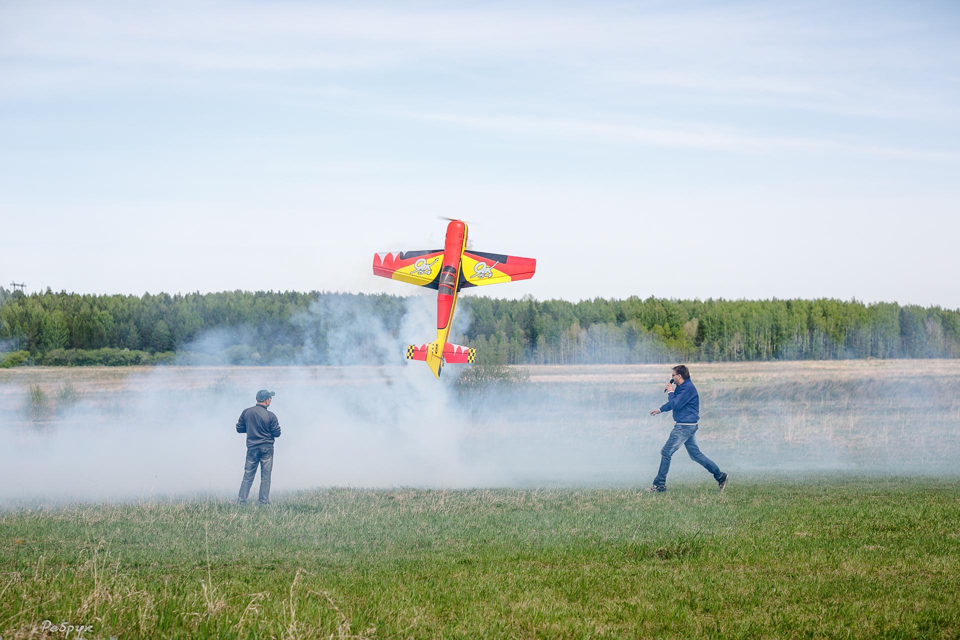 Свердловские авиамоделисты запустили в небо трехметровые самолеты