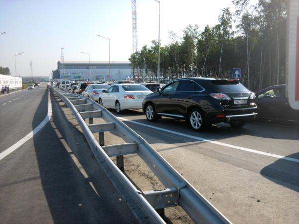 Пробки мешают участникам добраться до «Иннопрома»