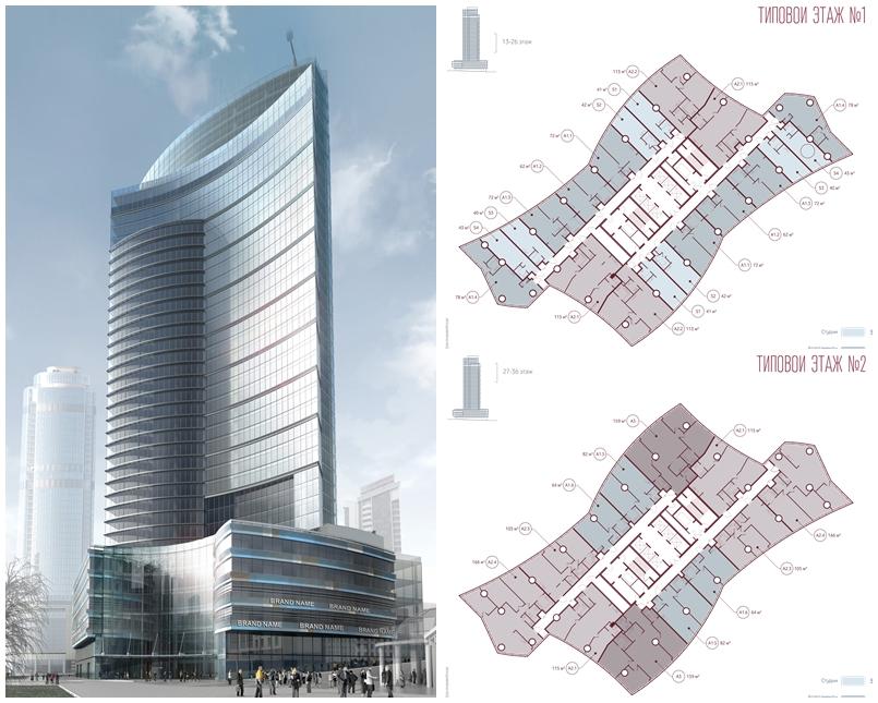 Строители показали, как будет устроен 42-этажный небоскреб в центре города