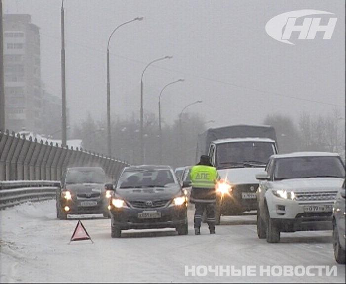 Утро жестянщика: на Московской столкнулись девять машин