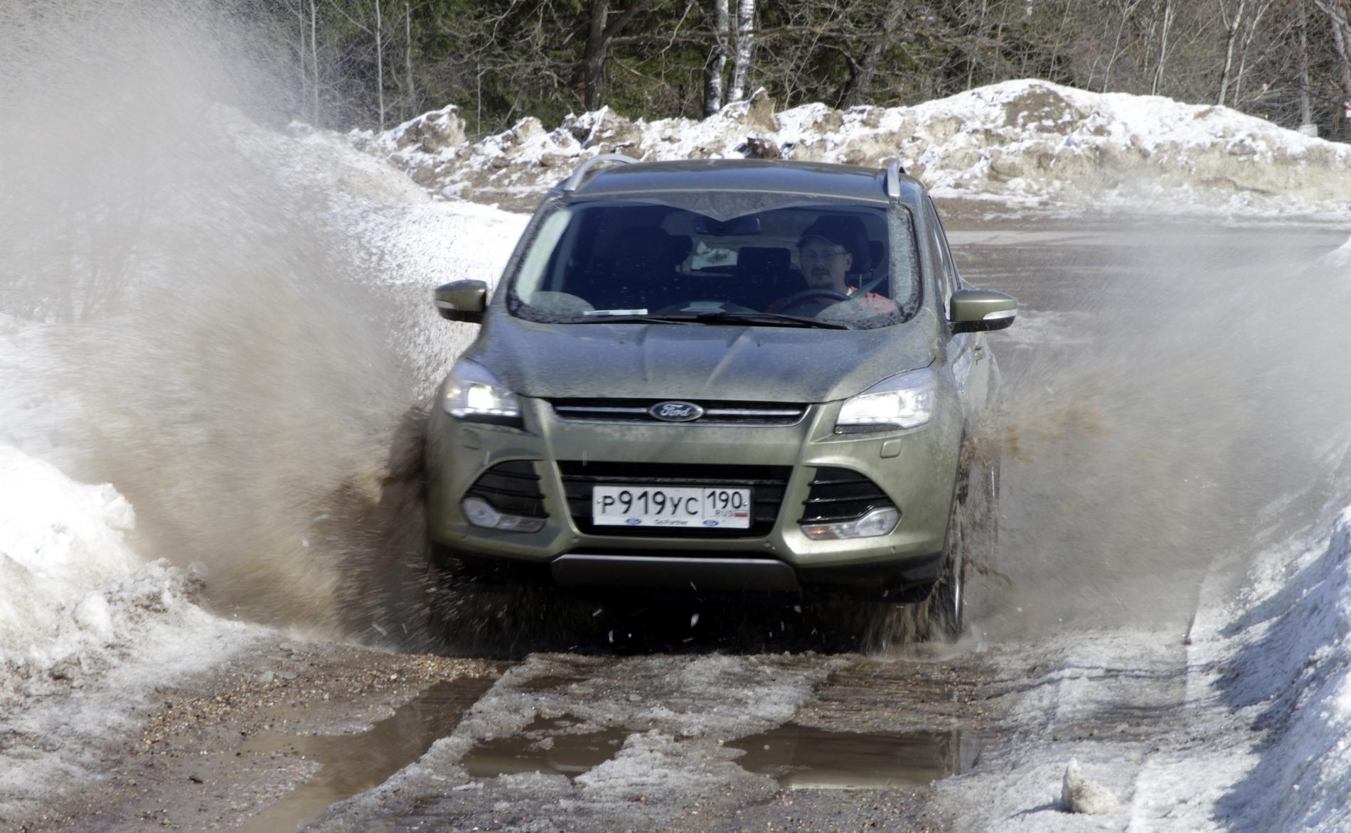 Подмосковье-trophy: хлебаем грязь и черпаем глину с новым Ford Kuga