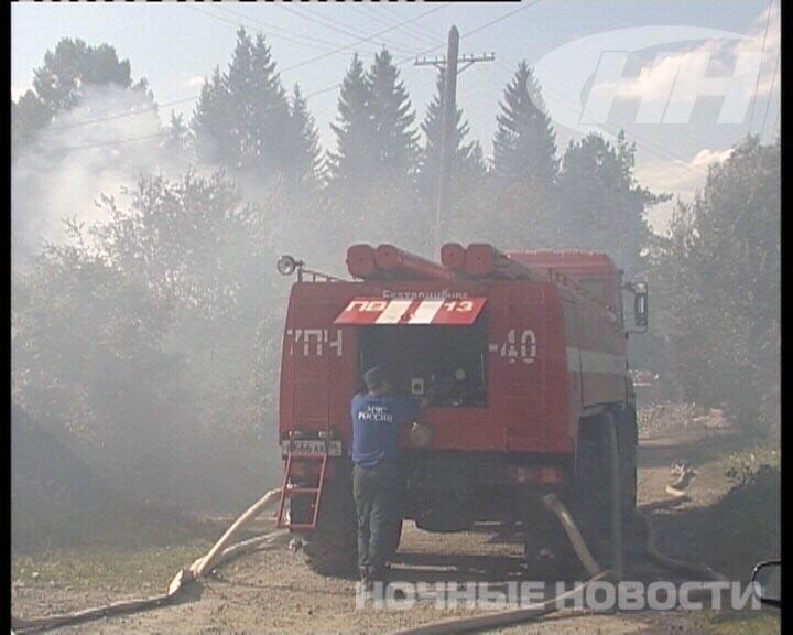 В Шувакише произошел крупный пожар