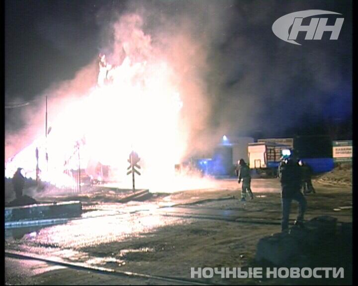 На Сортировке произошел крупный пожар