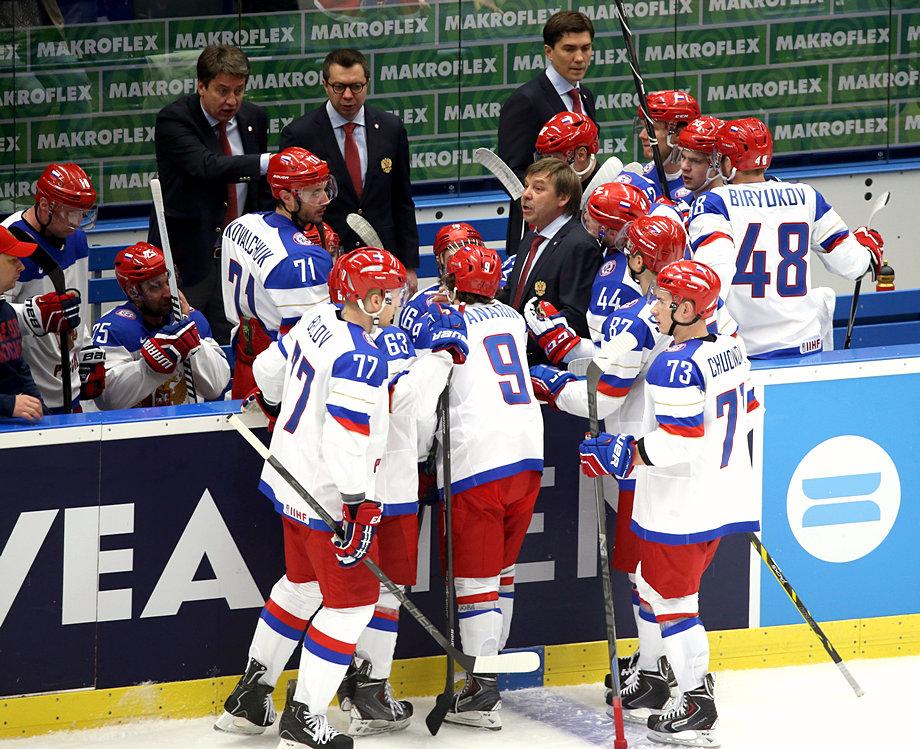 Почти как в Олимпийском Сочи: Россия обыграла Словению на ЧМ по хоккею