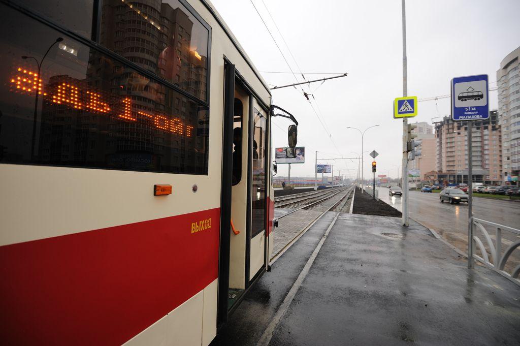 В Екатеринбурге загорелся трамвай