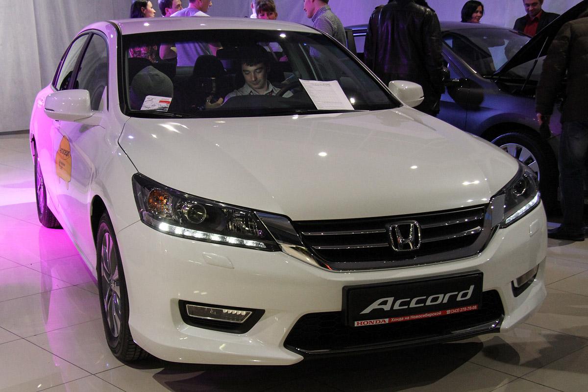 Новую Honda Accord Екатеринбургу показали под звуки смычковых и винила