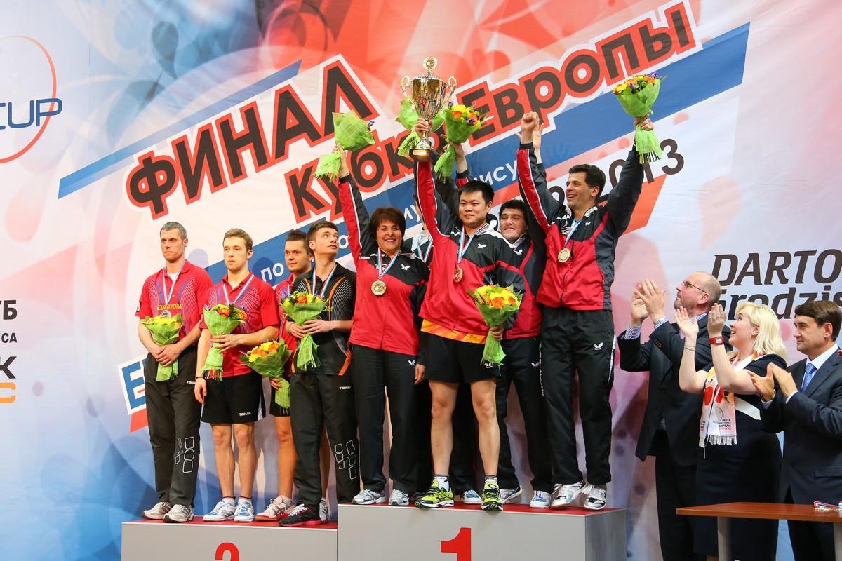 УГМК впервые выиграл кубок Европы по настольному теннису