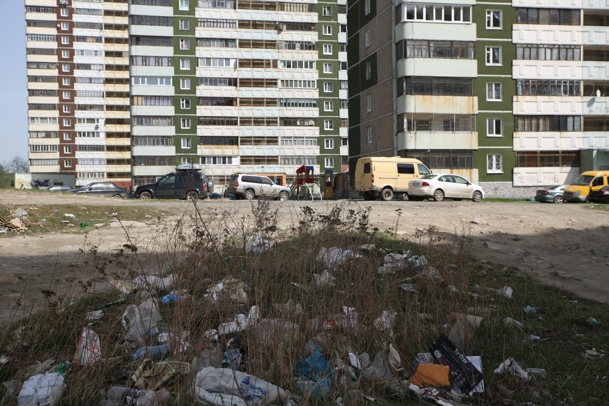 #грязьвдуше. Мы нашли самый замусоренный двор Екатеринбурга