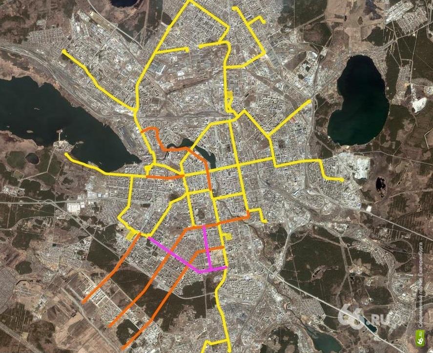 Завтра на транспортном совете в администрации Екатеринбурга обсудят, по какой схеме должен ходить электротранспорт.