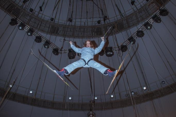 Екатеринбургская фигуристка поднялась под купол цирка ради Олимпиады
