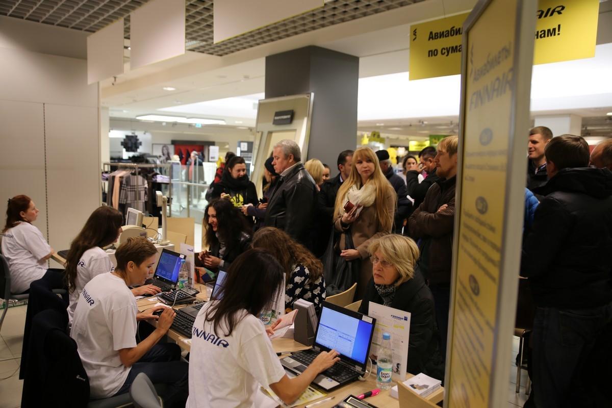 Без давки и паники: распродажа авиабилетов в «Стокманне» не вызвала ажиотажа