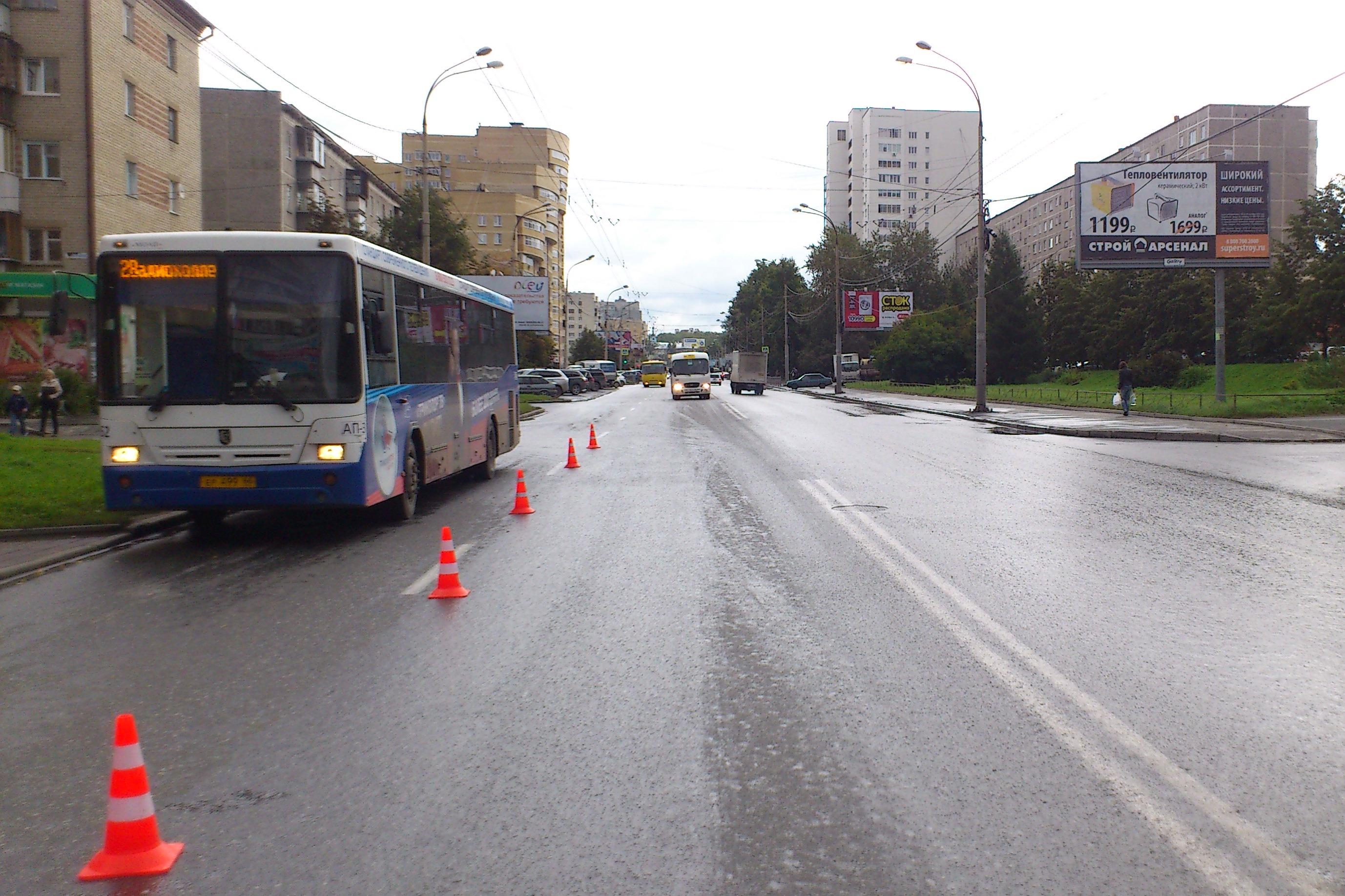 На Крауля автобус насмерть сбил пенсионера