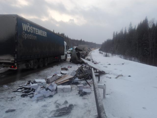 В аварии на трассе Екатеринбург — Пермь погибли четыре человека