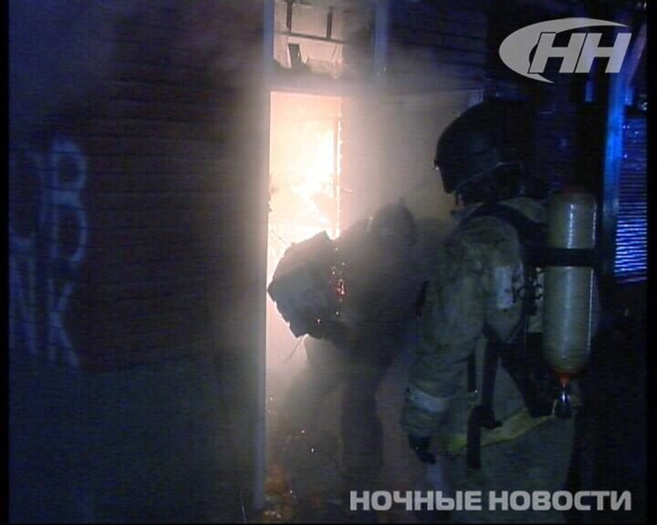Крупный пожар уничтожил кафе и сауну в Екатеринбурге