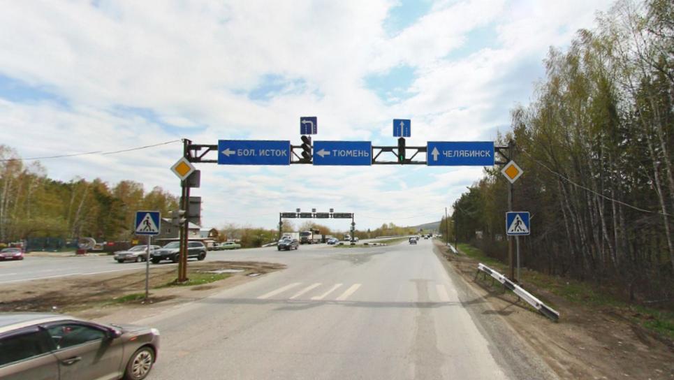 На южном въезде в Екатеринбург уберут светофор: визуализация перекрестка Челябинского тракта и ЕКАД