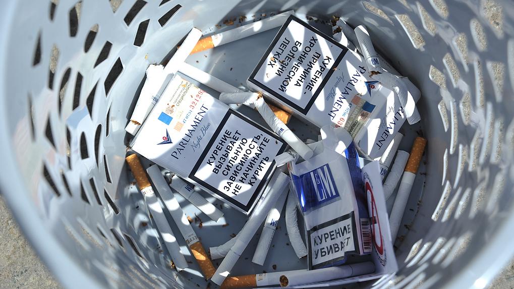 В РФ возросло количество фальсифицированных сигарет