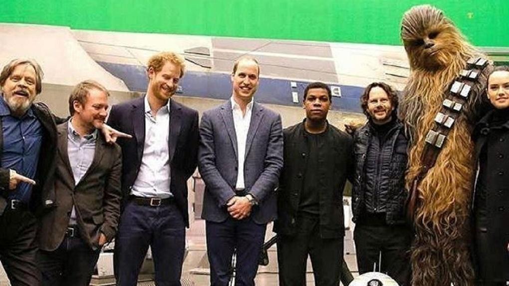 Принцы Уильям иГарри снимались ввосьмом эпизоде «Звездных войн»