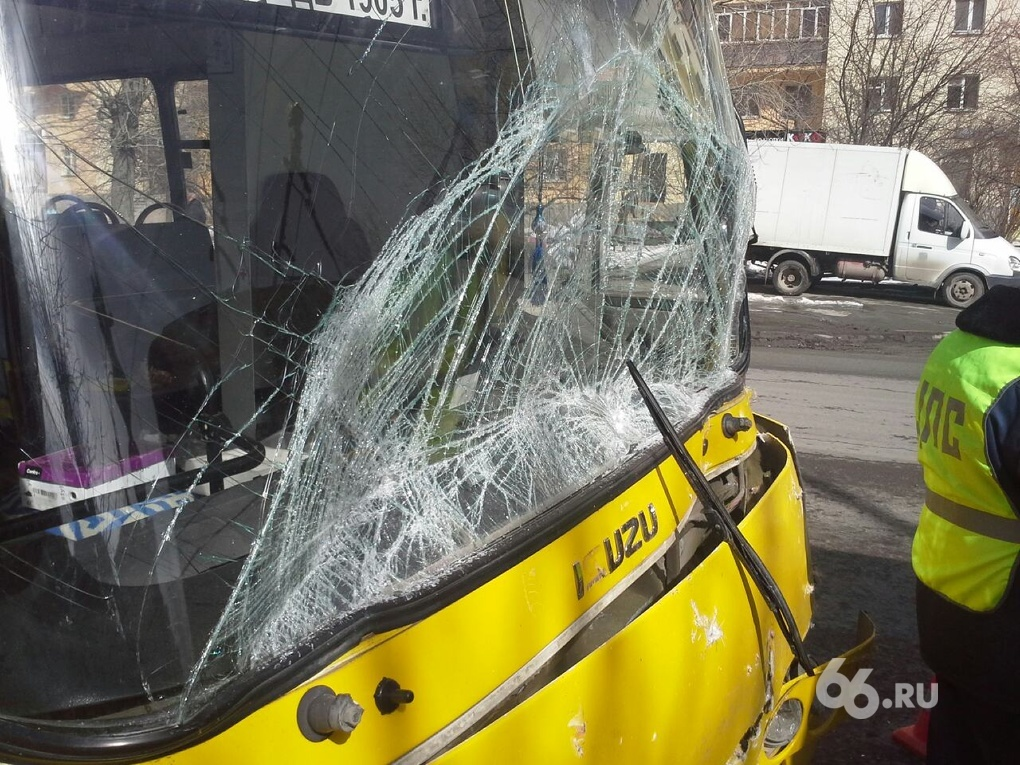 На Белинского «Богдан» въехал в зад троллейбусу