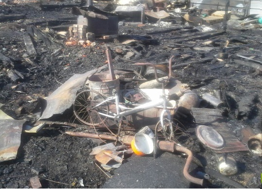 На Сортировке снова горел коллективный сад «Вагонник»