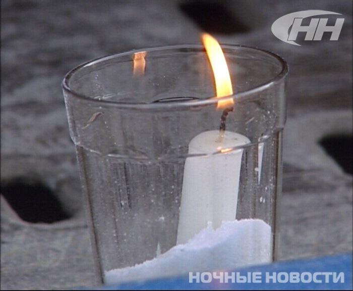 День памяти жертв ДТП: черные шарики и свечи в граненых стаканах