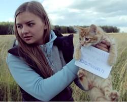 Обманутые дольщики пытались завлечь Путина котенком-космонавтом