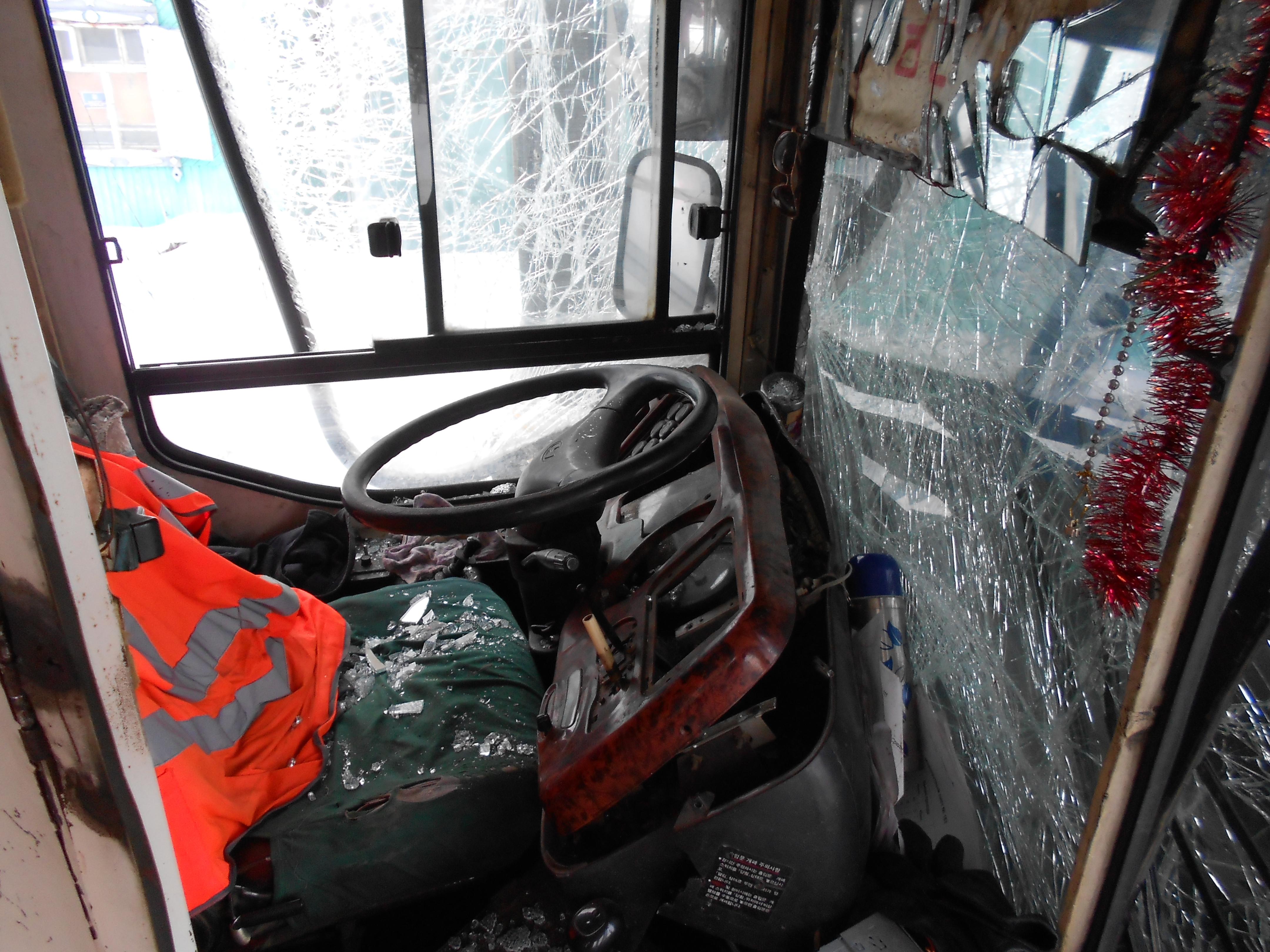 В Верхней Пышме столкнулись два пассажирских автобуса
