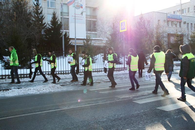 В Екатеринбурге прошел пеший ход против аварий