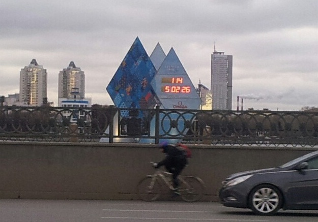 Екатеринбург к приезду олимпийского огня завесят новыми знаками