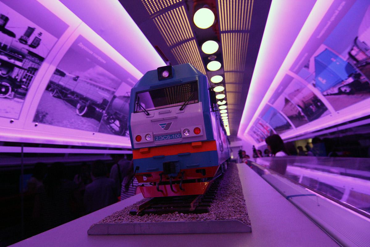 В Екатеринбург приехал поезд-выставка. Мишарину понравилось