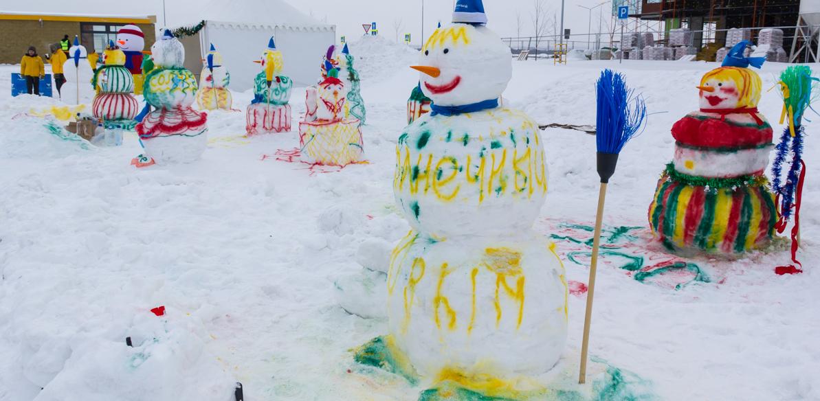 В Екатеринбурге морозостойкие дети собрали митинг снеговиков. Репортаж 66.ru