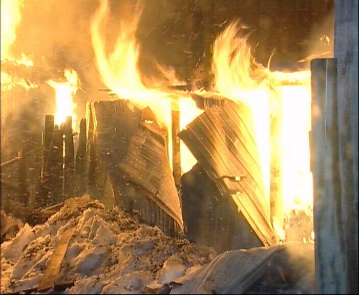 В горящем доме под Палкино пожарных едва не убило взрывом газа