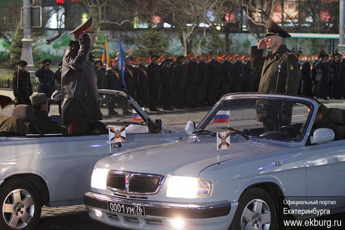В Екатеринбурге прошла ночная репетиция парада Победы