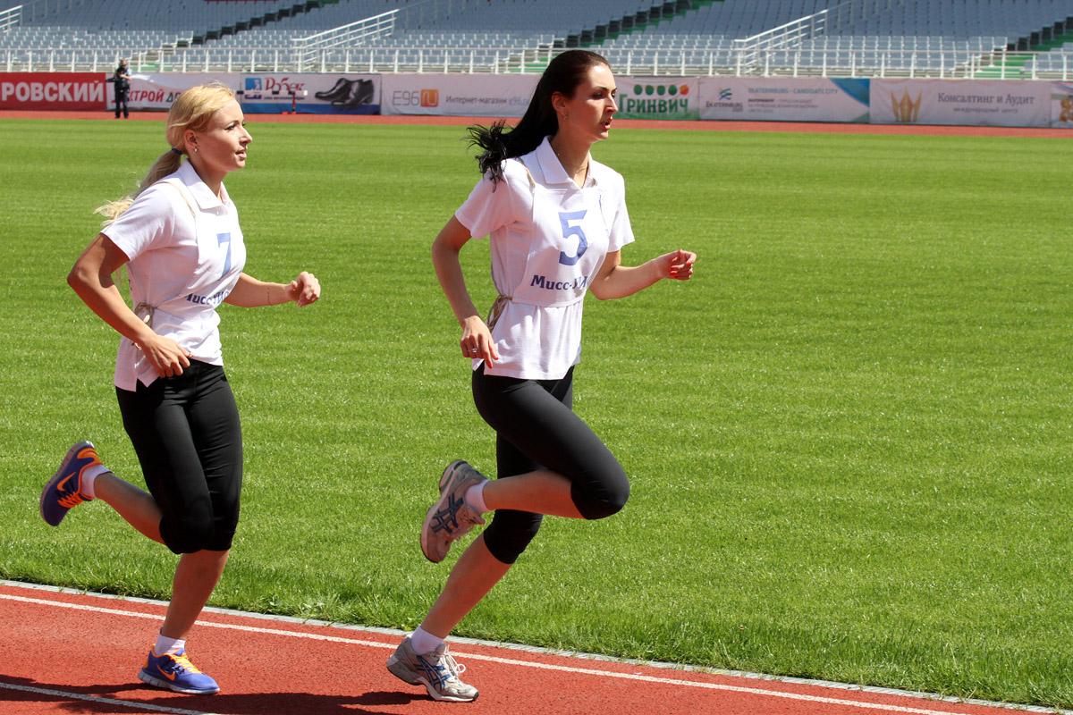 Участница конкурса «Мис УИС» из Екатеринбурга обогнала всех на Центральном стадионе