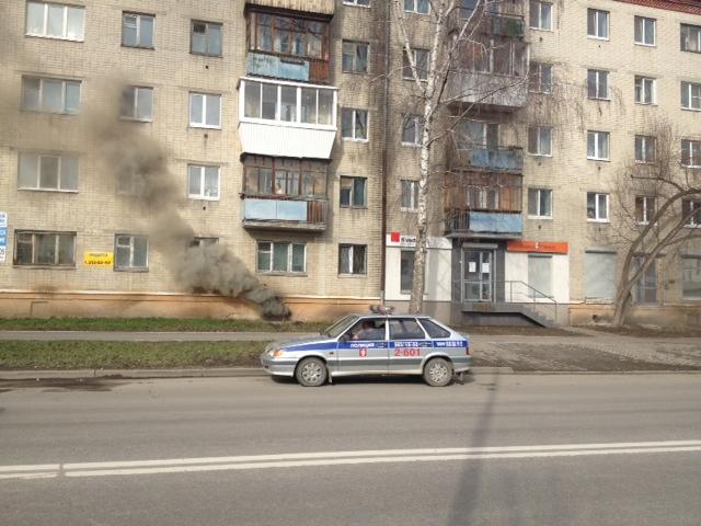 Пожар произошел в подвале дома на улице Степана Разина
