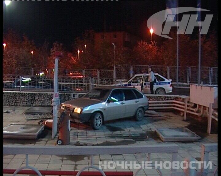 Водитель «девятки» устроил ЧП на екатеринбургской автозаправке