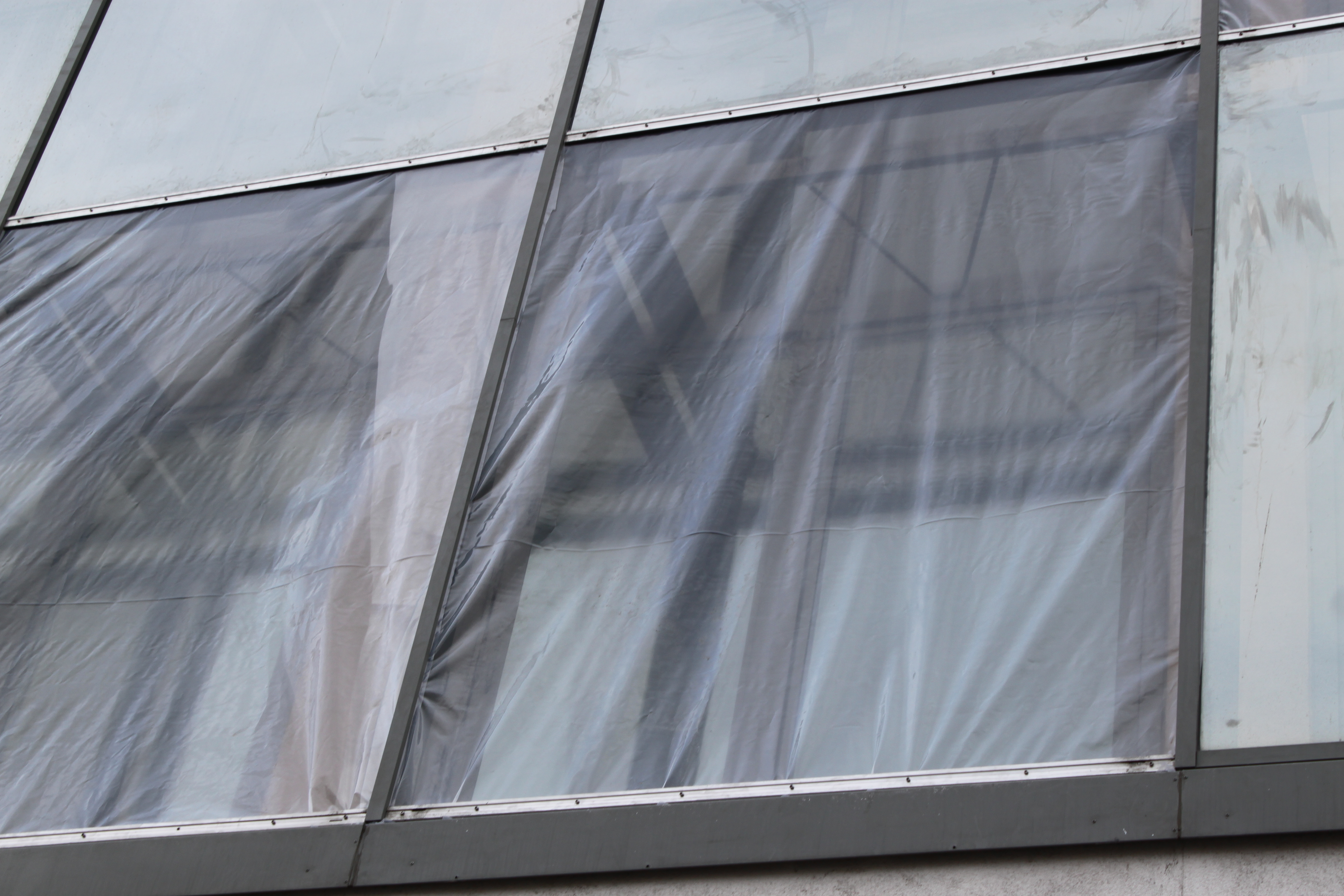 Хулиганы разбили три витрины в Театре музкомедии