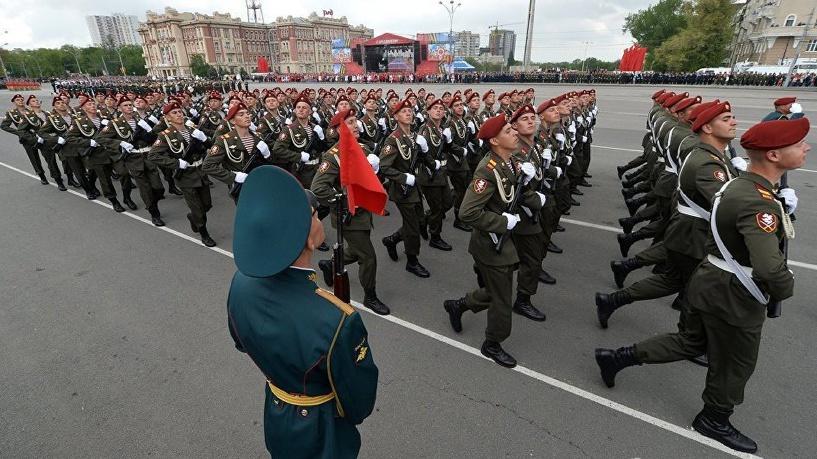 Размещено  видео Парада Победы вформате 360 градусов