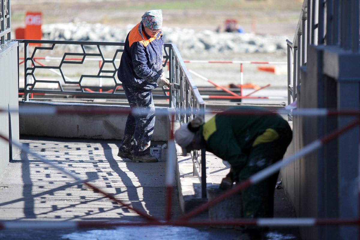 13 часов до Russia Arms Expo: танки помыты, дорожки покрашены