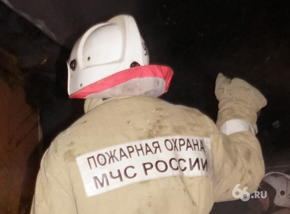 В Реже во время пожара пострадал мужчина