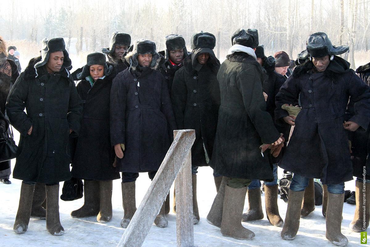 Студенты из Гвинеи сыграют в Екатеринбурге в хоккей в валенках