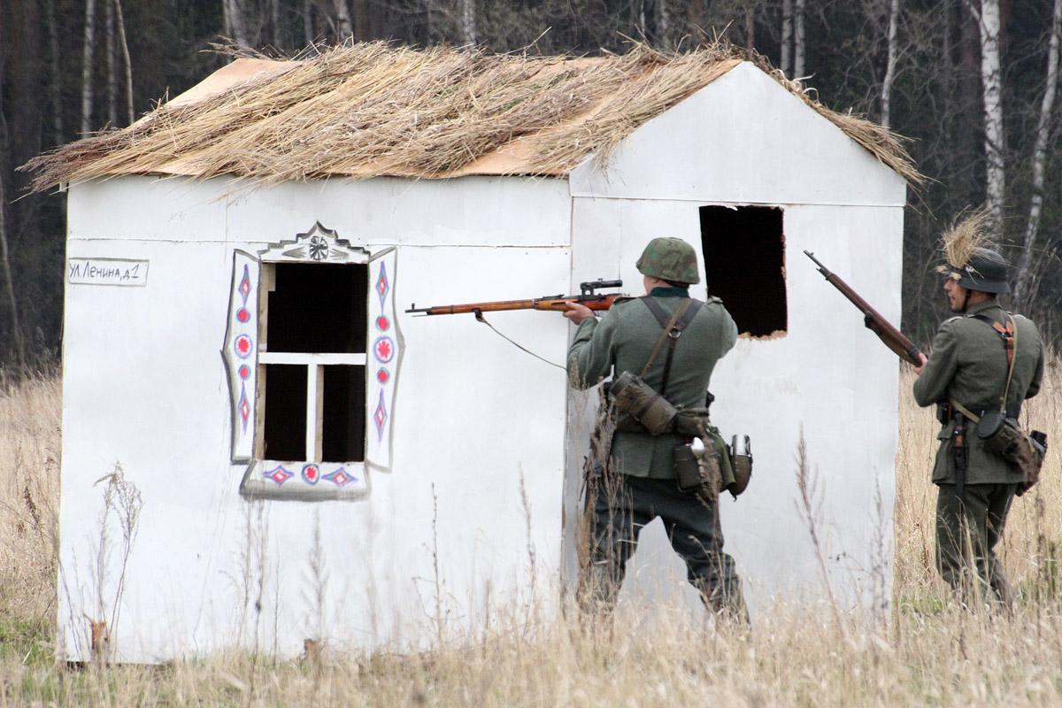 Импровизированный военный бой устроили на озере Шарташ