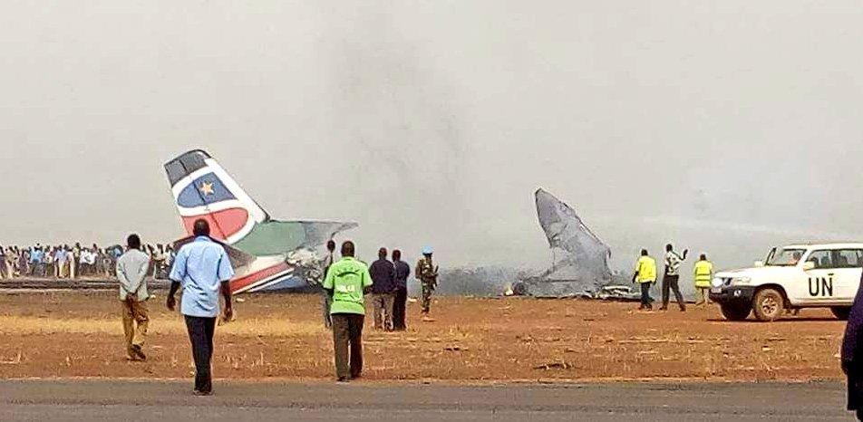 В Южном Судане рухнул пассажирский самолет, 44 человека погибли